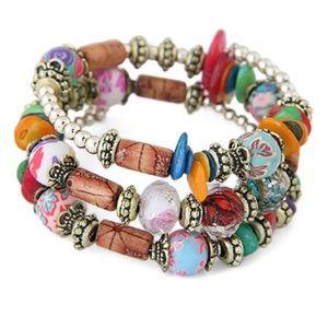 Jewelry - Hand painted Boho layered bracelet